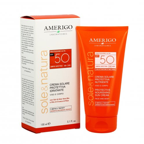 Crema Solare Protettiva Idratante - Protezione Alta Spf 50