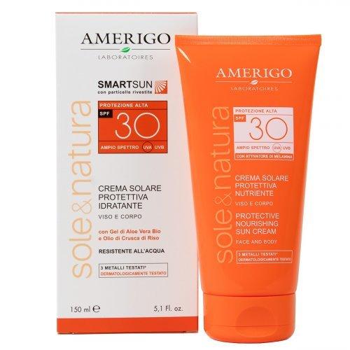 Crema Solare Protettiva e Idratante - Protezione Alta Spf 30