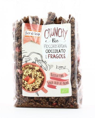 Crunchy con Fiocchi d'Avena, Cioccolato e Fragole