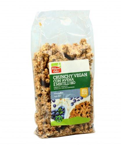 Crunchy Vegan con Avena e Mirtilli Bio