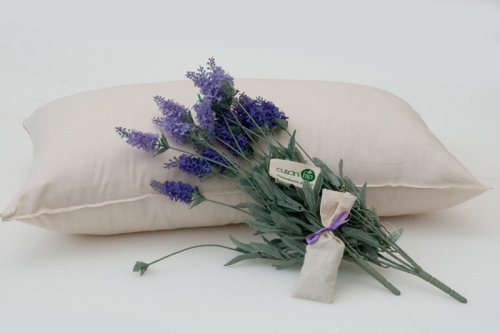 Cuscino in Cotone e Lavanda Bio