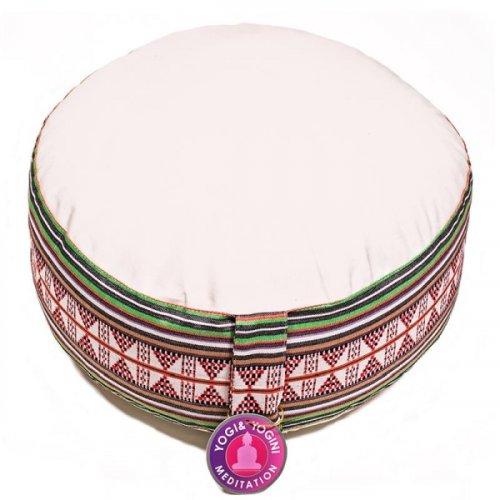 Cuscino da Meditazione Avorio - Motivo Tribe