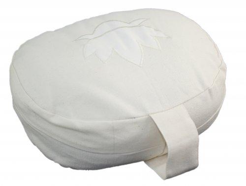 Cuscino Ovale in Pula di Grano Saraceno - Bianco