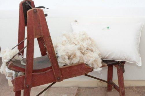 cuscino in fiocchi di lana grezza - cuscini bio