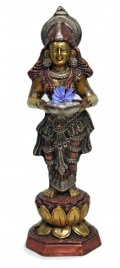 Statua in Ottone della Dea Lakshmi