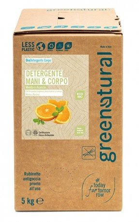 Detergente Delicato Mani e Corpo - Menta e Arancio