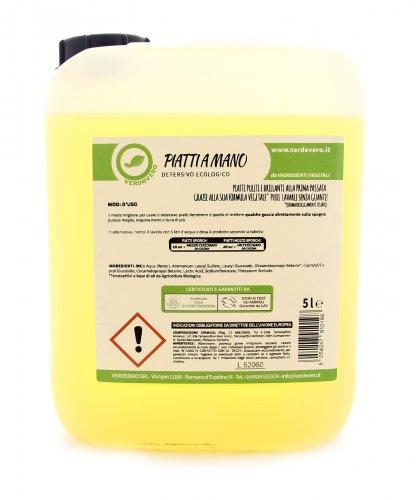 Detergente per il Lavaggio Manuale Piatti e Stoviglie - 5 Litri