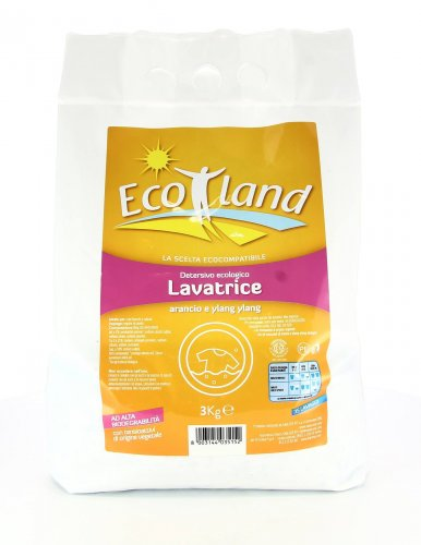 Detersivo Ecologico Lavatrice in Polvere Arancio e Ylang Ylang