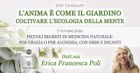 """Serata """"L'anima è come il giardino"""" con Erica F. Poli – Giovedì 7 ottobre 2021"""