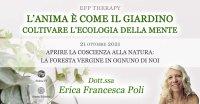 """Serata """"L'anima è come il giardino"""" con Erica F. Poli – Giovedì 21 ottobre 2021"""