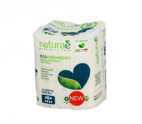 Assorbenti Ecologici e Biodegradabili da Notte con Ali