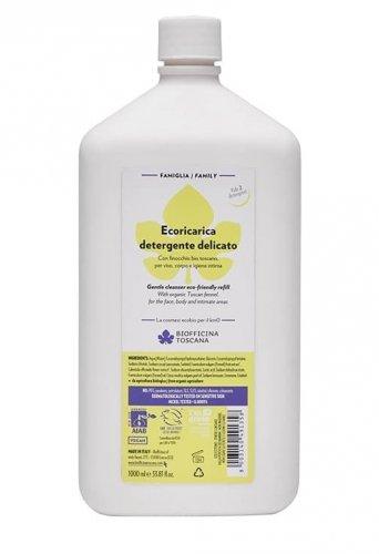Ecoricarica Detergente Delicato per Viso Corpo e Igiene Intima