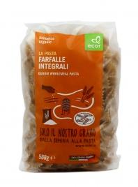 PASTA FARFALLE INTEGRALI BIO Con ingredienti da agricoltura biologica certificata. Prodotto alimentare italiano