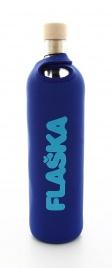 Bottiglia Vetro Programmato Flaska - Neo Authentic Blue Neoprene 0,5 L