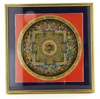 Quandro con Mandala Tibetani - 27x27 cm.