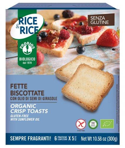Fette Biscottate con Olio di Semi di Girasole - Rice & Rice