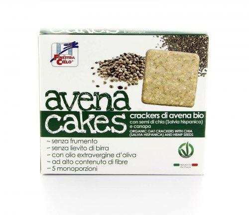 Avena Cakes - Semi di Chia e Canapa