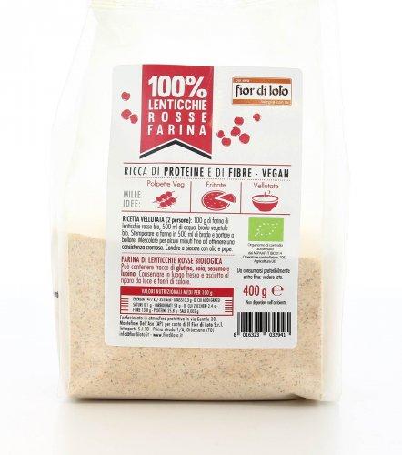 100% Lenticchie - Farina di Lenticchie Rosse Bio