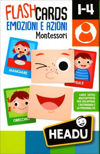 FlashCards Emozioni e Azioni Montessori 1-4 Anni