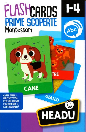 FlashCards Prime Scoperte - Montessori 1-4 Anni