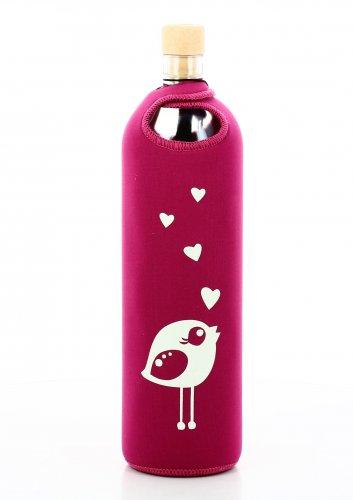 Bottiglia Vetro Programmato Neo Design Birdy