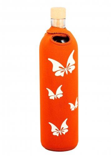 Bottiglia Vetro Programmato - Lady Butterfly White