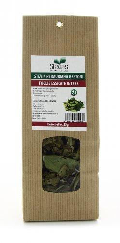 Foglie di Stevia Essicate Intere Rebaudiana Bertoni
