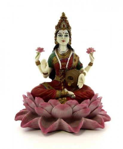 Lakshmi Seduta su un Fiore di Loto