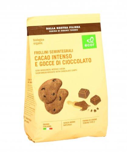 Frollini Semintegrali Cacao e Gocce di Cioccolato