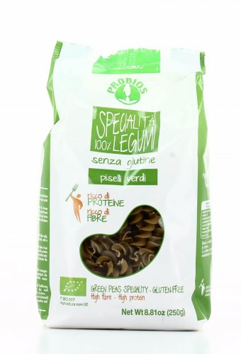 Pasta di Piselli Verdi Bio Senza Glutine - Fusilli