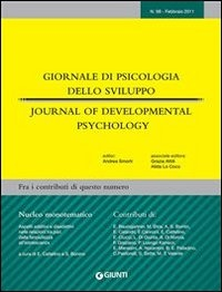 Giornale di Psicologia dello Sviluppo - Journal of Developmental Psychology n. 98 (eBook)