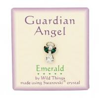 Spilla Guardian Angel Guarigione (Smeraldo)