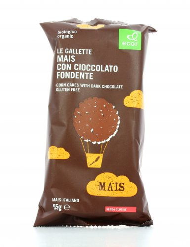 Gallette Bio di Mais con Cioccolato Fondente - Senza Glutine