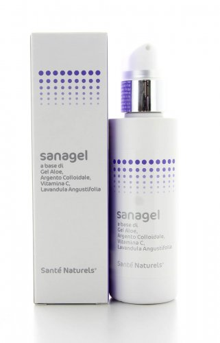 Sanagel- Gel Aloe, Argento Colloidale, Vitamina C e Lavanda