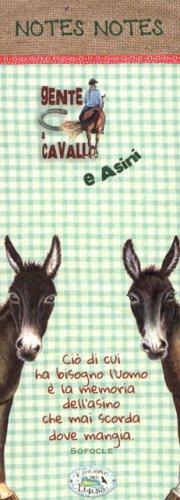 Blocco Note Piccolo - Gente a Cavallo e Asini
