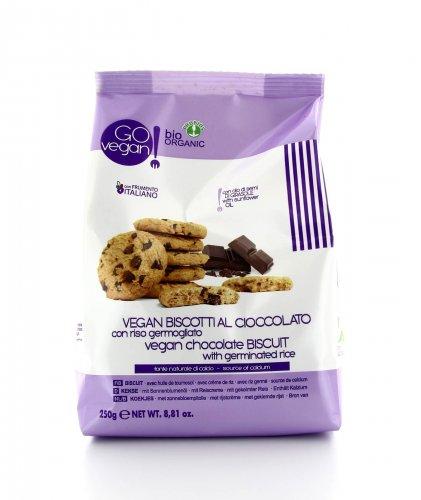 Biscotti al Cioccolato con Riso Germogliato - Go Vegan