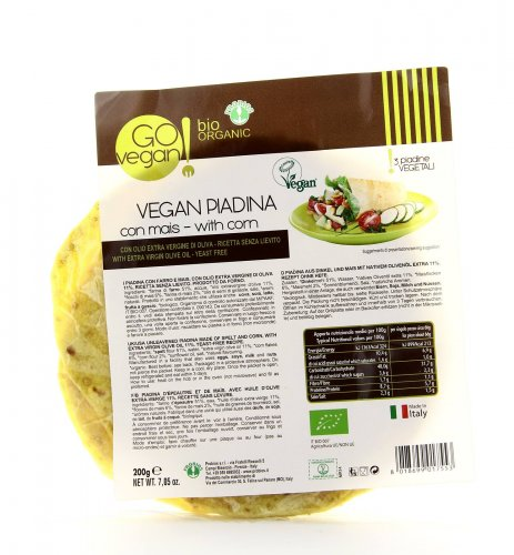 Go Vegan - Piadina di Farro con Mais