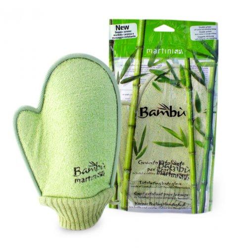 Guanto Esfoliante per il Corpo in Loofah e Soffice Viscosa Estratta dal Bambù