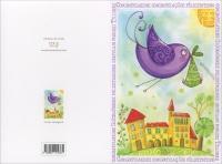Happycard - Congratulazioni Uccello Rosa
