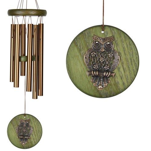 """Campana del Vento con Gufo """"Habitats Chime Green Owl"""""""