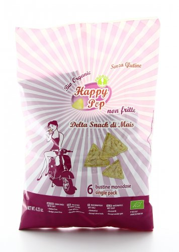 Happy Pop - Delta Snack di Mais - 6 Bustine Monodose