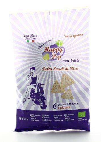 Happy Pop - Delta Snack di Riso - 6 Bustine Monodose