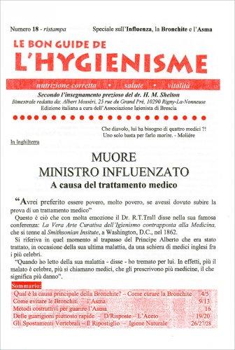 La Bon Guide de l'Hygienisme - Numero 18 - Speciale. Influenza, Bronchite e Asma