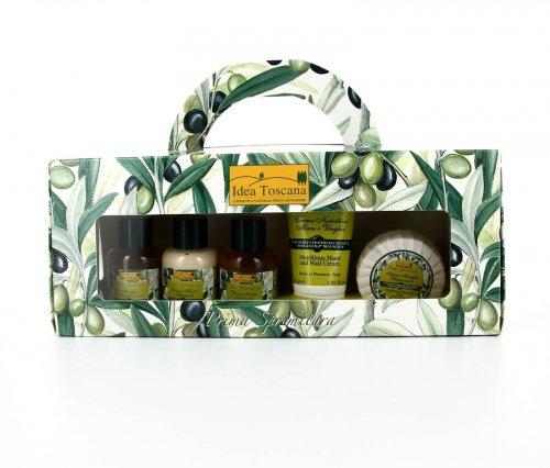 Valigetta 5 Prodotti - Shampoo, Crema Corpo, Bagnoschiuma, Sapone Marsiglia, Crema Mani