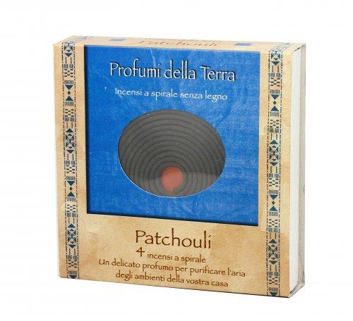 Incensi a Spirale Senza Legno al Patchouli - Profumi della Terra