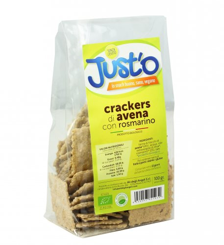 Crackers di Avena con Rosmarino Bio - Just'o