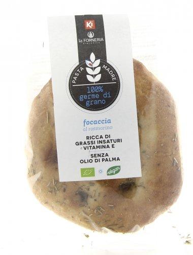 Focaccia al Rosmarino con Pasta Madre 100% Germe di Grano Bio