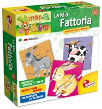 Carotina La Mia Fattoria - Tessere a Incastro - 3/6 Anni