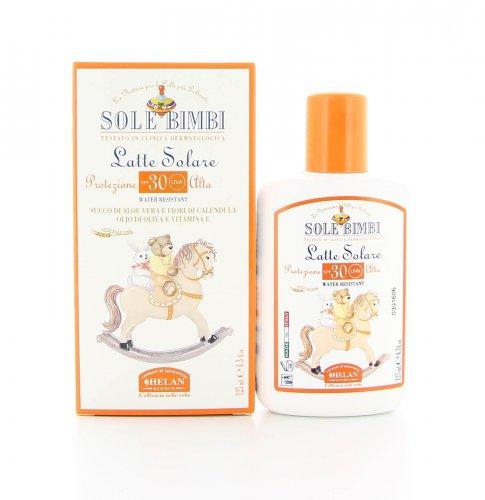 Latte Solare Sole Bimbi Protezione Molto Alta Spf30