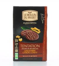 Tentation - Biscotti Zenzero e Limone al Cioccolato Fondente